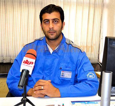 امین نعمتی مسئول واحد آتش نشانی شرکت طراحی مهندسی و تامین قطعات ایران خودرو ( ساپکو)