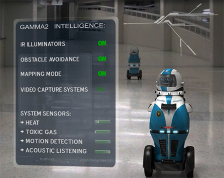 حل مساله امنیت با روبات های خودگردان Gamma 2