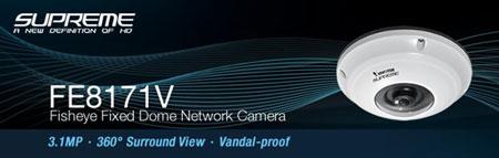 دوربين DOME ثابت شبکه اي با زاويه ديد 360درجه