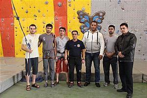 قهرمانی تیم آتش نشانی در مسابقات سنگ نوردی و مچ اندازی
