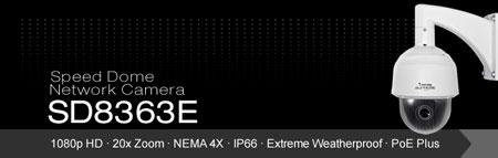دوربين VIVOTEK SD8363E جديدترين دوربين SPEED DOME با قابليت POE Plus