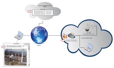 استفاده از خدمات DDNS و آدرس های IP داینامیک در سیستم های نظارتی